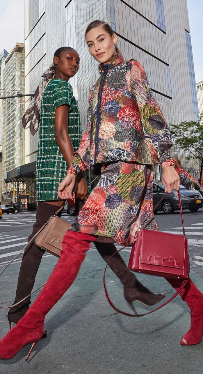 ch carolina herrera models walking in new york wearing fall 2019 campaign